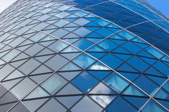 LONDON, Modern English architecture, Gherkin building glass texture. City of London Stock Photography