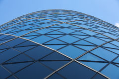 LONDON, Modern English architecture, Gherkin building glass texture. City of London. LONDON UK - SEPTEMBER 19, 2015: Modern English architecture, Gherkin royalty free stock photography