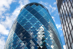 LONDON, Modern English architecture, Gherkin building glass texture. City of London Stock Photo