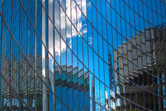LONDON, Modern English architecture, glass texture with sky reflection. City of London Stock Photo