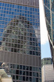 LONDON, Modern English architecture, glass texture with sky reflection. City of London Royalty Free Stock Photos