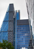 LONDON, Modern English architecture, glass texture with sky reflection. City of London Royalty Free Stock Photo