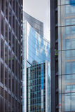 LONDON, Modern English architecture, glass texture with sky reflection. City of London Stock Images