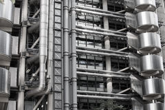 LONDON, Modern English architecture, Lloyds bank building texture. City of London Stock Photo