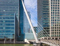 London. Modern glass architecture of Canary Wharf bunnies district Stock Photo