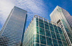 London. Modern glass architecture of Canary Wharf bunnies district Royalty Free Stock Photos