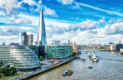 Free London Modern Skyline Along River Thames On A Beautiful Sunny Da Royalty Free Stock Photo - 102749835