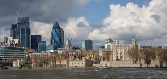 London moderna och historiska horisont Fotografering för Bildbyråer
