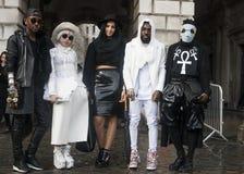 London-Modewoche am 18. Februar Stockfotografie