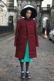 London-Modewoche am 18. Februar Stockbilder