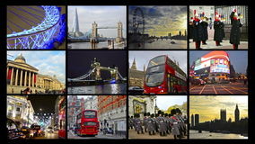 Free London Montage Collection Postcard Royalty Free Stock Images - 43149659