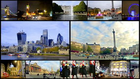 London montage collection postcard stock footage