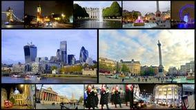 London-Montagesammlungspostkarte stock footage