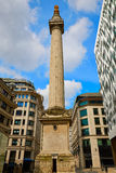 London Monument to the Great Fire column Stock Image