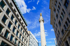 London Monument to the Great Fire column Stock Images