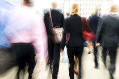 London Morning Commuters On Their Way To Workplace.  Stock Photo