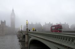London morning in fog Stock Images