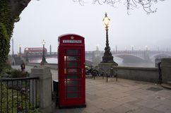 London morning in fog Royalty Free Stock Photography