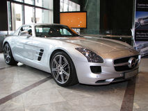 London Motorexpo 2011 - Mercedes sls amg Lizenzfreies Stockbild