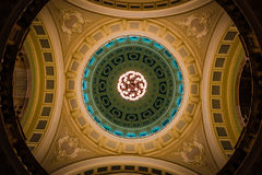 London Museum ceiling colorfull round royalty free stock photo