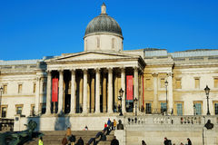 London - National Gallery. With tourists Royalty Free Stock Image