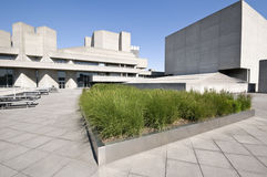 London National Theatre. Royal National Theatre at summer, London royalty free stock photography