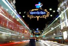 london natt Fotografering för Bildbyråer