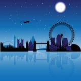 london natt vektor illustrationer
