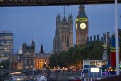 london natt Sikt av Big Ben Royaltyfri Bild