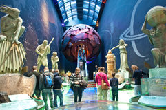 London- Natural History Museum. London, Natural History Museum, Earth sculpture gallery.Red zone Royalty Free Stock Image