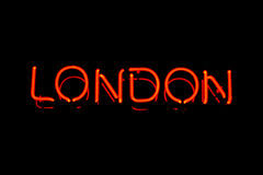 Free London Neon Sign Stock Photography - 15864332