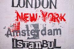 London New York Amsterdam Istanbul Lizenzfreie Stockfotos