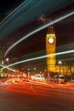London at night. Traffic in London at night, UK Royalty Free Stock Photos