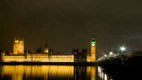 London at night. The Big Ben and Houses of Parliament Royalty Free Stock Photography