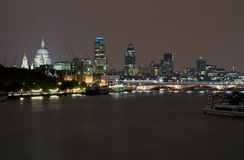 London by night. Night scene of London along the river Thames Stock Photo