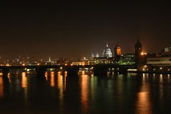 London by night. City of London - night Panorama view royalty free stock image