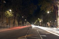London  at night. London Road at night Royalty Free Stock Image