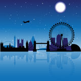 London at night vector illustration