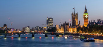 London at Night. Big Ben and Westminster abbey at night in London, UK Stock Image