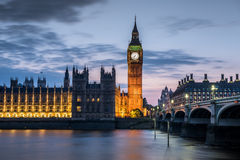 London at Night. Big Ben and Westminster abbey at night in London, UK Royalty Free Stock Photo