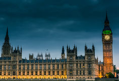 London at Night. Big Ben and Westminster abbey at night in London, UK Stock Photo