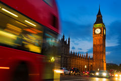 London at night Houses of Parliament and Big Ben Stock Images