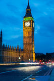 London at night Houses of Parliament and Big Ben Royalty Free Stock Photo