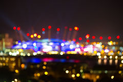 London night lights blurred image, background Royalty Free Stock Photography