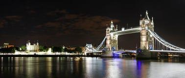 London night panorama. London panorama with tower bridge at night, london, england, united kingdom Stock Photo