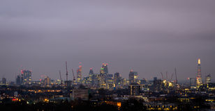 London, night skyline from Parliament Hill Royalty Free Stock Image
