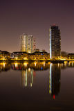 London at night. Thames River at night  West London England Royalty Free Stock Photography