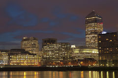 London night time. London sky line night time Royalty Free Stock Photos
