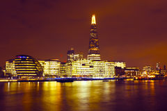 London at night in UK Stock Photography