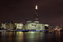 London at night in UK Royalty Free Stock Photography